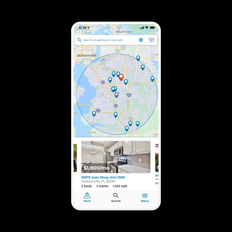 Property search map view