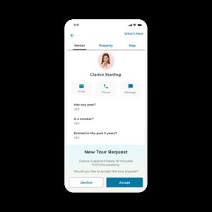 App screen active tour renter tab
